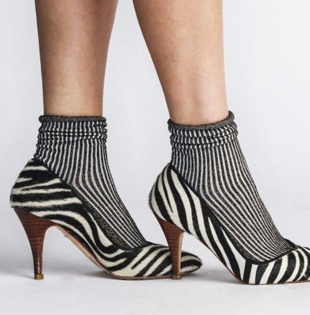 chaussures zebrée