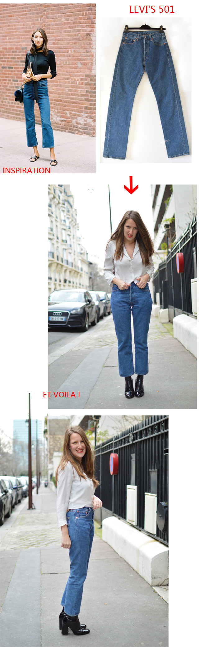 jean cropped flared