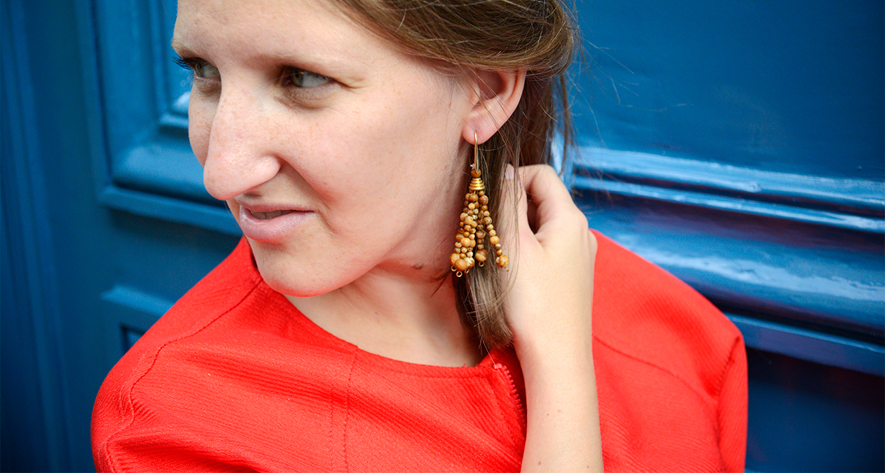 DIY: les boucles d'oreilles en bois façon Jacquemus