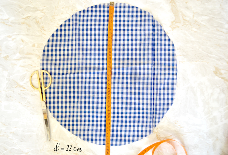 diy coussin rond