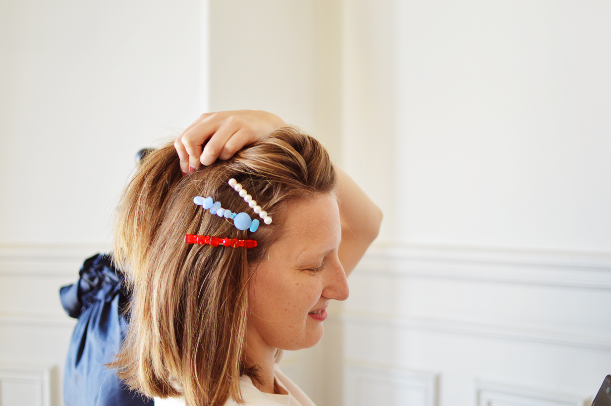 diy barrette cheveux
